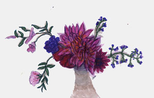 watercolor of a flower bouqet